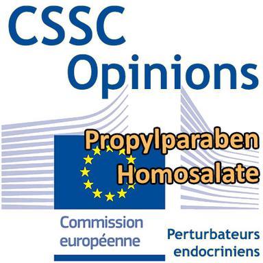 Propylparaben, Homosalate : Opinions préliminaires du CSSC