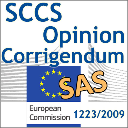 SAS solubility: CSSC makes a corrigendum to its Opinion