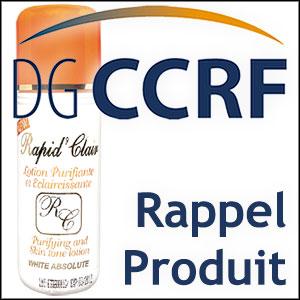 Rappel d'une lotion éclaircissante de la marque Rapid'Clair