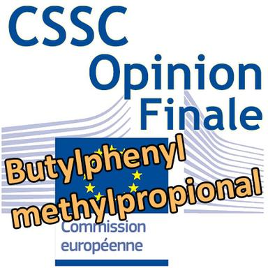 Butylphenyl methylpropional : Opinion finale du CSSC