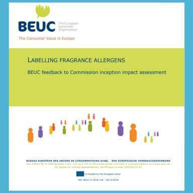 Postion du BEUC sur l'étiquetage des allergènes de parfumerie