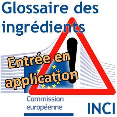 Rappel : le Glossaire européen des ingrédients cosmétiques applicable depuis le 8 mai