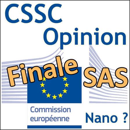 Solubilité des SAS: Opinion finale du CSSC