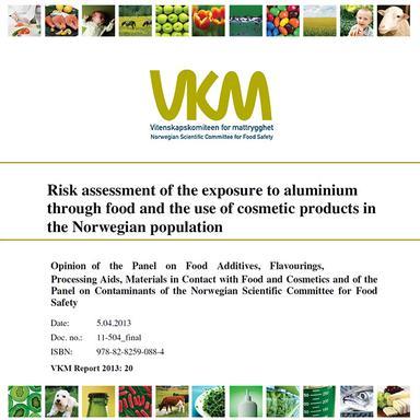 Evaluation du risque de l'exposition à l'aluminium par le VKM