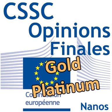 Or et Platine nanos : Opinions finales du CSSC