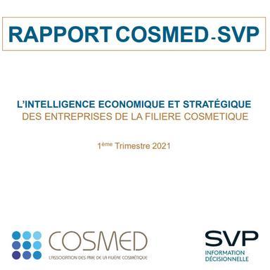 3e rapport Cosmed-SVP d'intelligence économique et stratégique des entreprises de la filière cosmétique