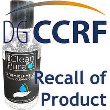 Rappel d'un gel hydro-alcoolique de la marque Clean and Pure