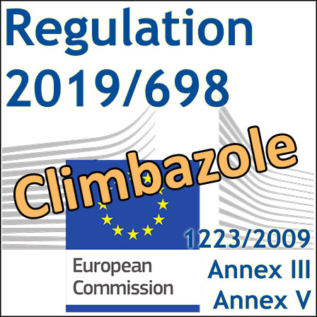 Regulation 2019/698: New restrictions for Climbazole