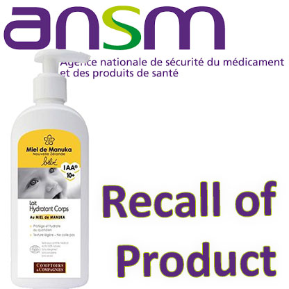 Recall Of A Baby Lotion Comptoirs Compagnies Cosmeticobs L