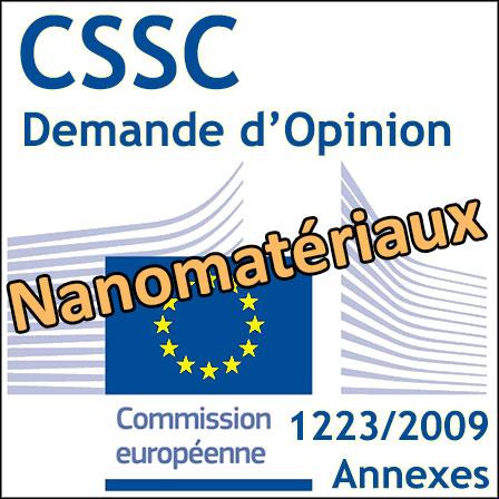 Sécurité des nanomatériaux en cosmétique: demande d'avis scientifique au CSSC