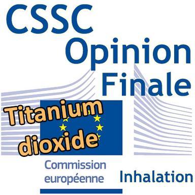 Titanium dioxide (TiO2) dans les cosmétiques pouvant être inhalés : Opinion finale du CSSC