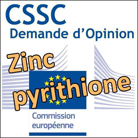 Zinc pyrithione: demande d'Opinion au CSSC