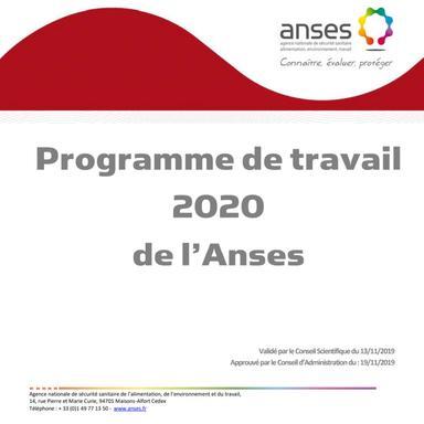 Le programme de l'ANSES pour 2020