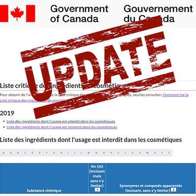 Canada : modification de la Liste critique des ingrédients cosmétiques