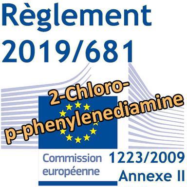 Règlement 2019/681 : le 2-Chloro-p-phenylenediamine interdit