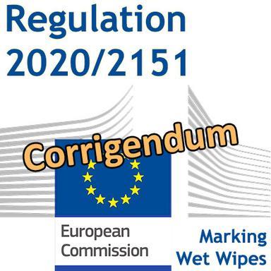 Rectificatif au Règlement 2020/2151 pour le marquage des lingettes