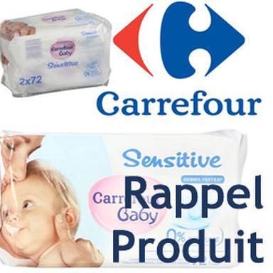Rappel de lingettes bébé Carrefour