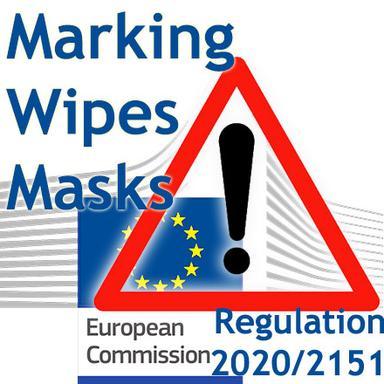 Marquage obligatoire des lingettes et masques contenant du plastique