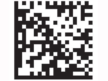 2 - Vous repérez un barre code 2D.