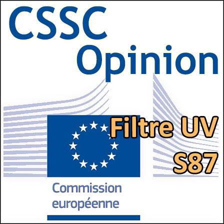 Methoxypropylamino cyclohexenylidene ethoxyethylcyanoacetate (S87) : Opinion du CSSC