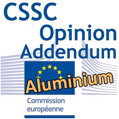 Addendum à l'Opinion du CSSC sur l'aluminium (version préliminaire)