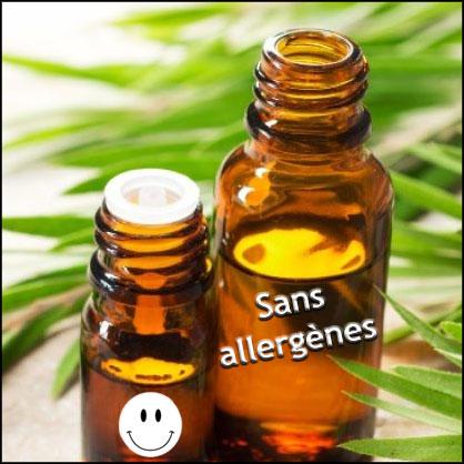 Huiles essentielles sans allergènes