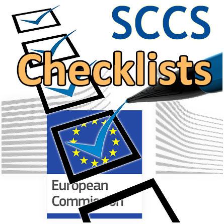 European Commission Flag and Checklist Symbol