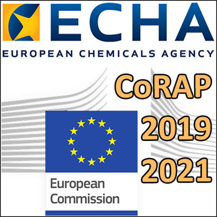 The ECHA's CoRAP2019-2021