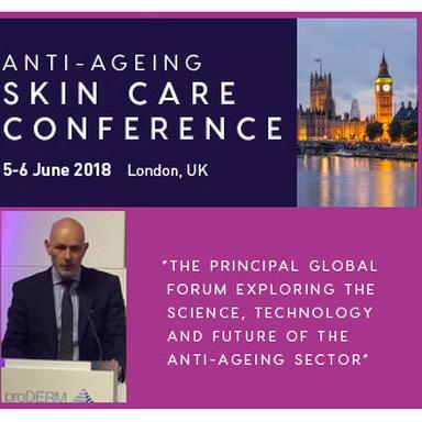 Le Pr Christopher Griffiths à la 6e Anti-Ageing Skin Care Conference