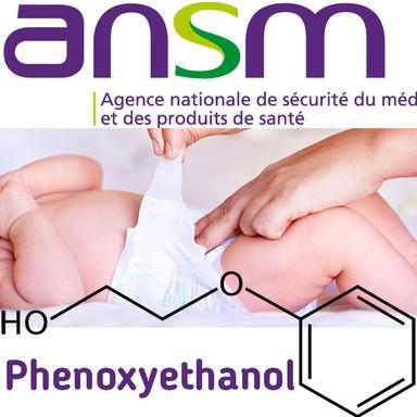 Logo ANSM, Change de bébé, symbole phénoxyéthanol