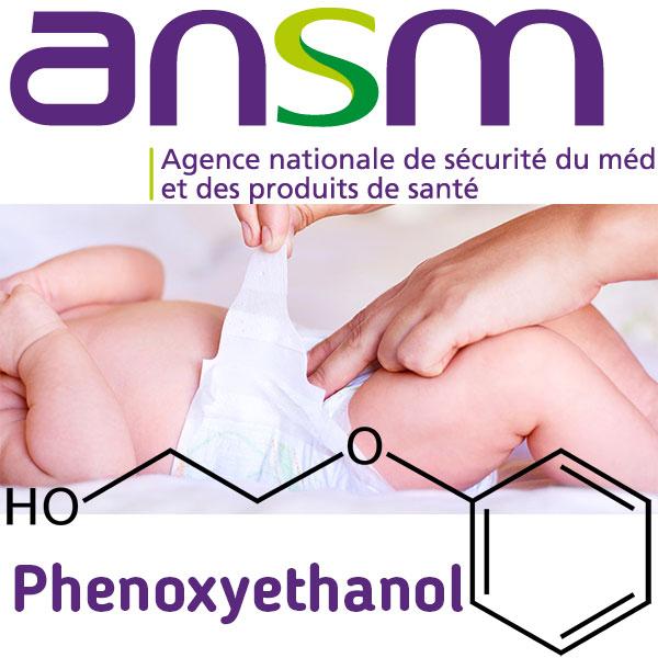 ANSM Logo, Nappy Change, Phenoxyethanol Symbol