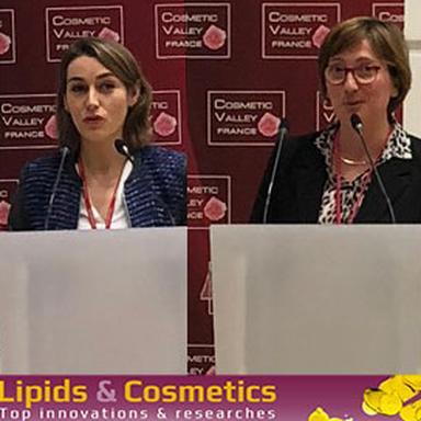 Justine Thuleau, de Symrise, et Catherine Kern, de Seppic