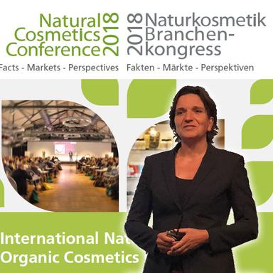Le Dr. Meike Gebhard au Naturkosmetik Branchen-kongress 2018