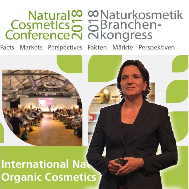 Le Dr. Meike Gebhard au Naturkosmetik Branchen-kongress2018