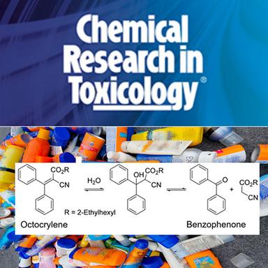 Accumulation de Benzophenone par dégradation de l'Octocrylene dans les produits cosmétiques