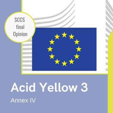 Acid Yellow 3 (CI 47005) : Opinion finale du CSSC