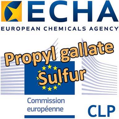 Consultations CLH pour le Propyl gallate et le Sulfur