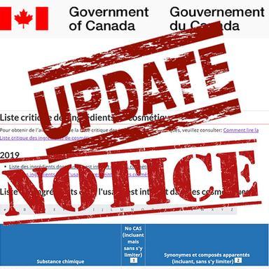 Canada : les modifications de la Liste Critique des ingrédients retardées... et précisées