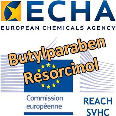 Butylparaben, Resorcinol : proposition d'identification en SVHC