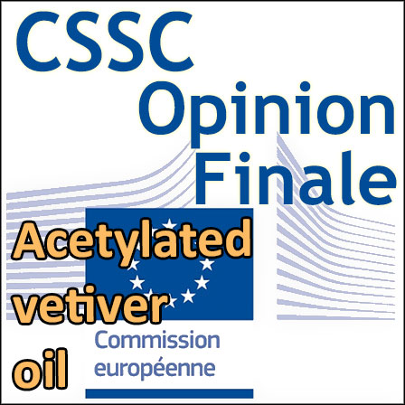 Acetylated vetiver oil : Opinion finale du CSSC