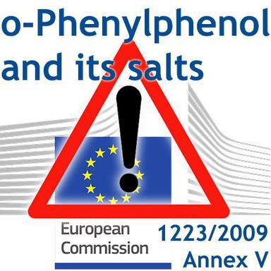 Rappel : entrée en application des mesures restrictives pour l'o-Phenylphenol et ses sels