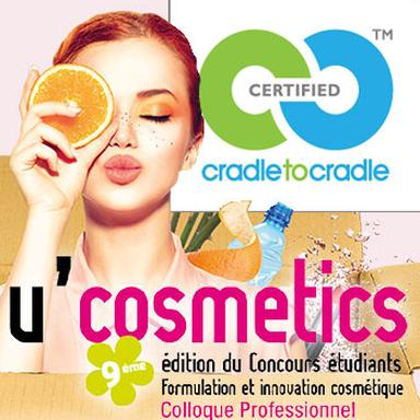 Affiche U'Cosmetics et logo Cradle to Cradle