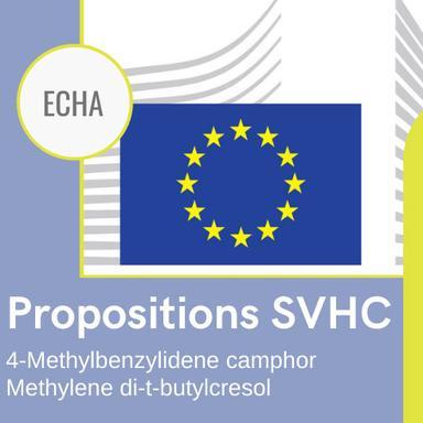 Proposition d'identification de deux ingrédients cosmétique en SVHC