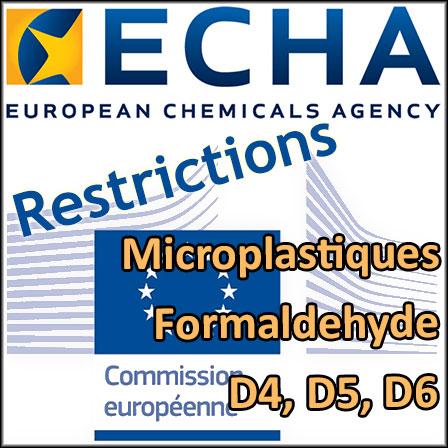 Propositions de restrictions de l'ECHA