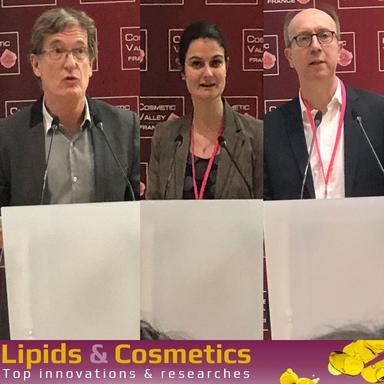 Olivier Paquatte, de Safic-Alcan, Hervé Plessix, de la Stéarinerie Dubois et Marie-Odile Hecht, de PolymerExpert