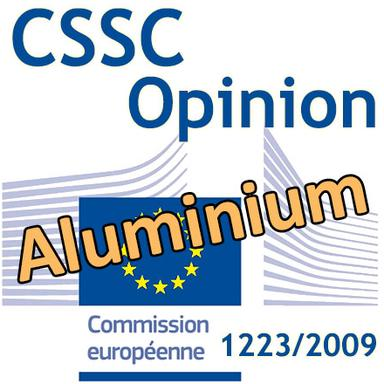 Aluminium dans les produits cosmétiques : Opinion du CSSC