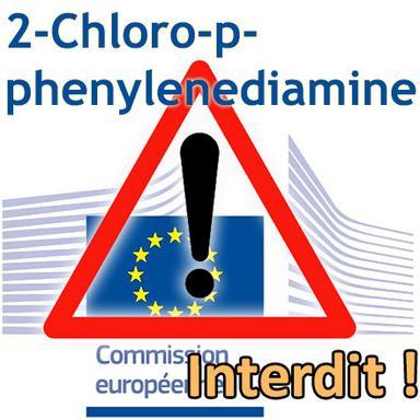 Rappel : le 2-Chloro-p-phenylenediamine totalement interdit depuis ce 22 février 2020