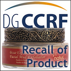 Recall of a Natus Facial Mud Exfoliator