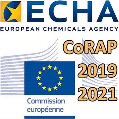 Le CoRAP 2019-2021 de l'ECHA