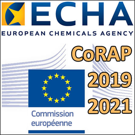 Le CoRAP2019-2021de l'ECHA